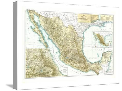 1916 Mexico Map-National Geographic Maps-Stretched Canvas Print
