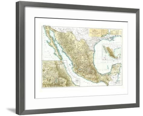 1916 Mexico Map-National Geographic Maps-Framed Art Print