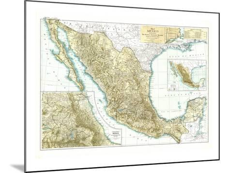 1916 Mexico Map-National Geographic Maps-Mounted Art Print