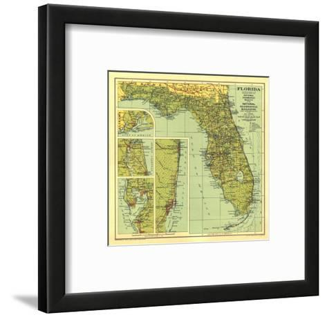 1930 Florida Map-National Geographic Maps-Framed Art Print