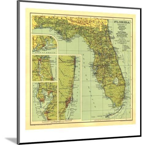 1930 Florida Map-National Geographic Maps-Mounted Art Print