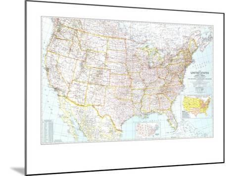 1940 United States of America Map-National Geographic Maps-Mounted Art Print