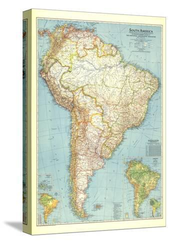 1942 South America Map-National Geographic Maps-Stretched Canvas Print