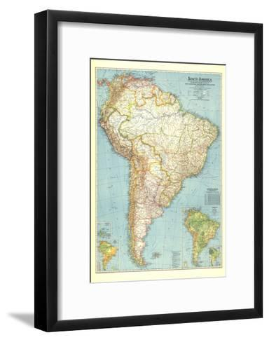 1942 South America Map-National Geographic Maps-Framed Art Print