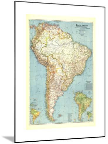 1942 South America Map-National Geographic Maps-Mounted Art Print