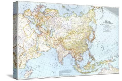 1942 Asia, and Adjacent Areas Map-National Geographic Maps-Stretched Canvas Print