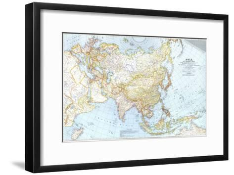 1942 Asia, and Adjacent Areas Map-National Geographic Maps-Framed Art Print