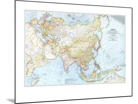 1942 Asia, and Adjacent Areas Map-National Geographic Maps-Mounted Art Print