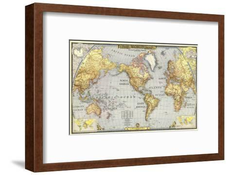 1943 World Map-National Geographic Maps-Framed Art Print