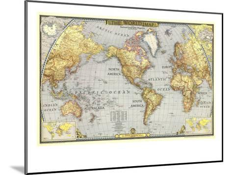 1943 World Map-National Geographic Maps-Mounted Art Print