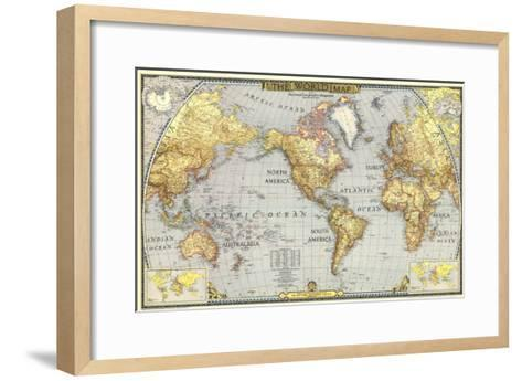 1943 world map art print by national geographic maps the new art 1943 world map national geographic maps framed art print gumiabroncs Images