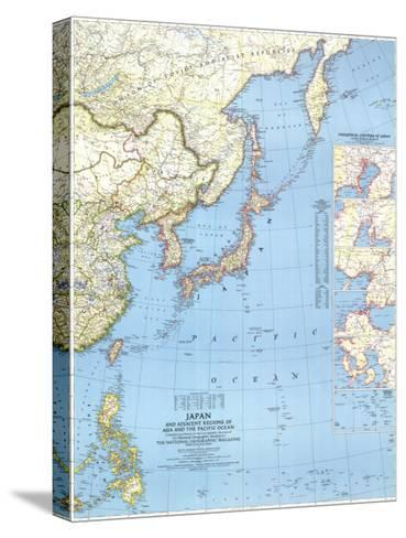 1944 Japan and Adjacent Regions of Asia and the Pacific Ocean Map-National Geographic Maps-Stretched Canvas Print