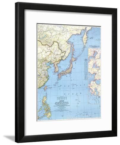 1944 Japan and Adjacent Regions of Asia and the Pacific Ocean Map-National Geographic Maps-Framed Art Print