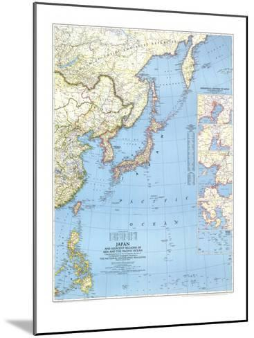 1944 Japan and Adjacent Regions of Asia and the Pacific Ocean Map-National Geographic Maps-Mounted Art Print