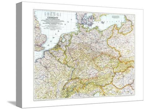 1944 Germany and Its Approaches 1938-1939 Map-National Geographic Maps-Stretched Canvas Print