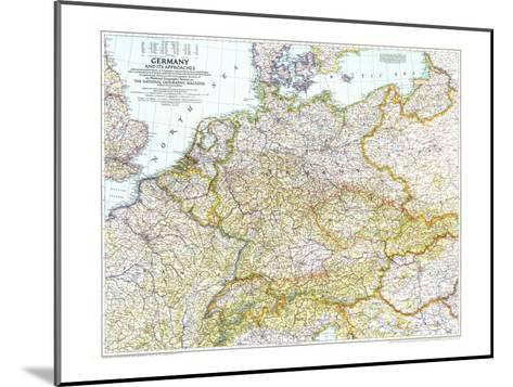 1944 Germany and Its Approaches 1938-1939 Map-National Geographic Maps-Mounted Art Print