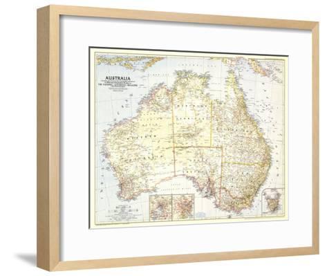 1948 australia map framed art print by national geographic maps 1948 australia map national geographic maps framed art print gumiabroncs Images