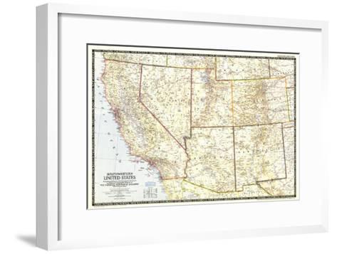 1948 Southwestern United States Map-National Geographic Maps-Framed Art Print