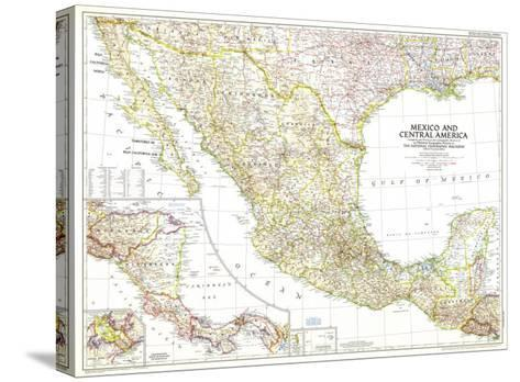1953 Mexico and Central America Map-National Geographic Maps-Stretched Canvas Print