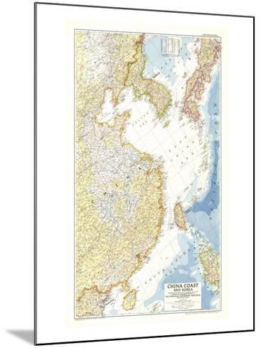 1953 China Coast and Korea Map-National Geographic Maps-Mounted Art Print