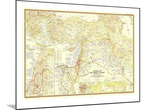 1956 Lands of the Bible Today Map-National Geographic Maps-Mounted Art Print