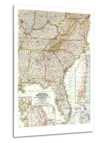 1958 Southeastern United States Map-National Geographic Maps-Metal Print