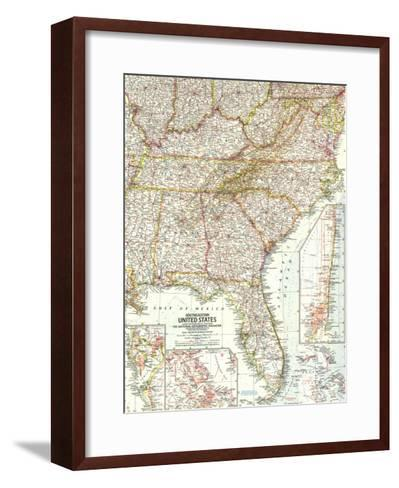 1958 Southeastern United States Map-National Geographic Maps-Framed Art Print