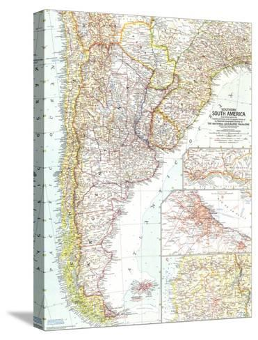 1958 Southern South America Map-National Geographic Maps-Stretched Canvas Print