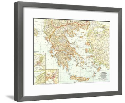 1958 Greece and the Aegean Map-National Geographic Maps-Framed Art Print