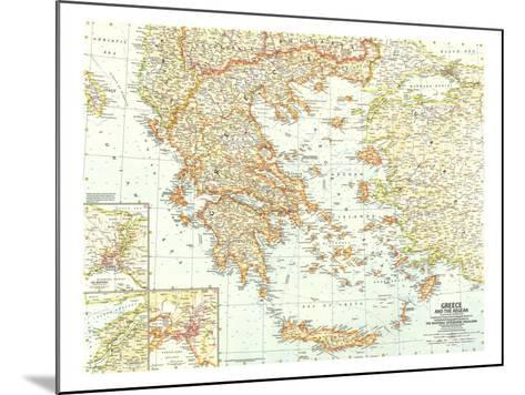 1958 Greece and the Aegean Map-National Geographic Maps-Mounted Art Print
