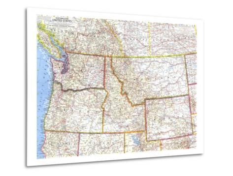 1960 Northwestern United States Map-National Geographic Maps-Metal Print