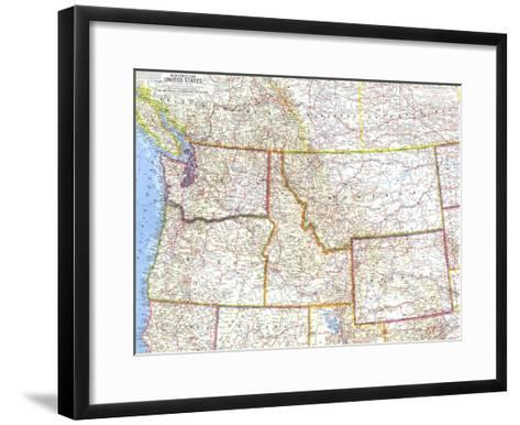 1960 Northwestern United States Map-National Geographic Maps-Framed Art Print