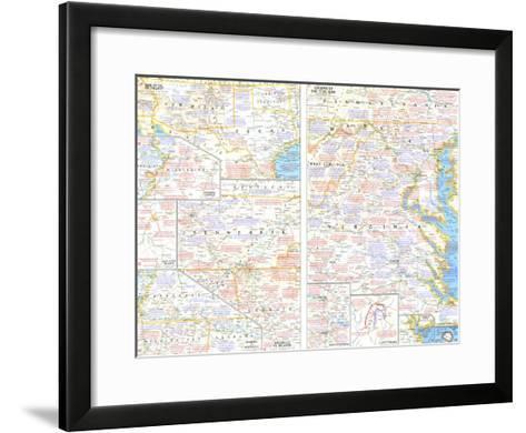 1961 Battlefields of the Civil War Theme-National Geographic Maps-Framed Art Print