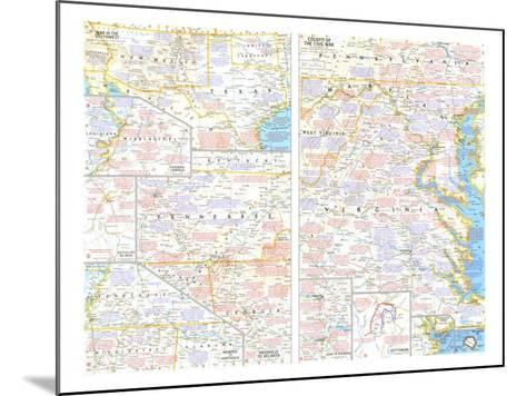 1961 Battlefields of the Civil War Theme-National Geographic Maps-Mounted Art Print