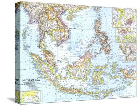 1961 Southeast Asia Map-National Geographic Maps-Stretched Canvas Print