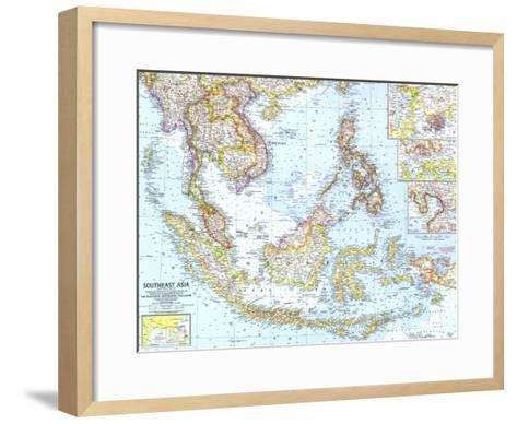 1961 Southeast Asia Map-National Geographic Maps-Framed Art Print