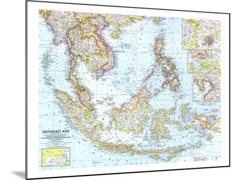1961 Southeast Asia Map-National Geographic Maps-Mounted Art Print