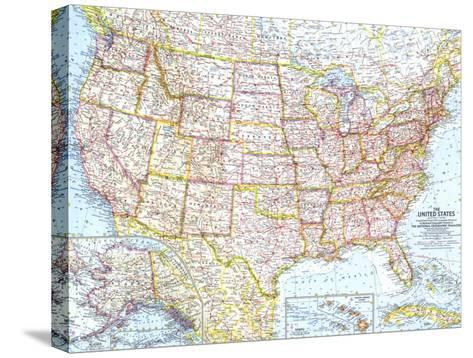 1961 United States of America Map Art Print by National Geographic ...