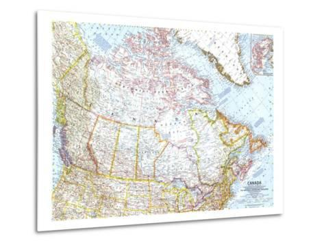 1961 Canada Map-National Geographic Maps-Metal Print