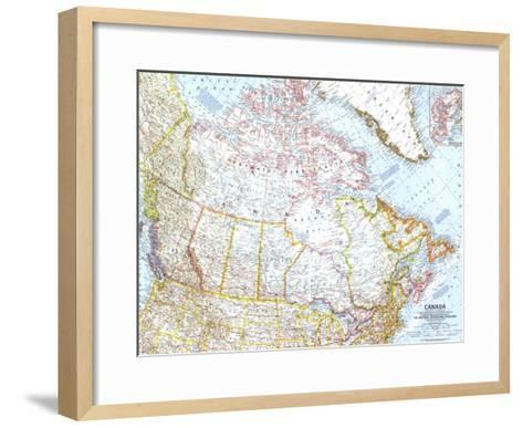 1961 Canada Map-National Geographic Maps-Framed Art Print