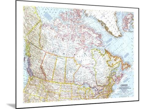1961 Canada Map-National Geographic Maps-Mounted Art Print