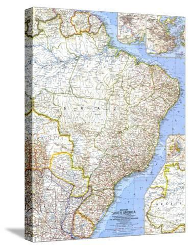1962 Eastern South America Map-National Geographic Maps-Stretched Canvas Print