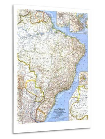 1962 Eastern South America Map-National Geographic Maps-Metal Print