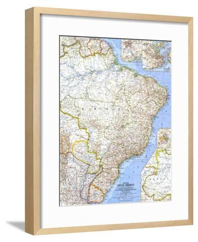 1962 Eastern South America Map-National Geographic Maps-Framed Art Print