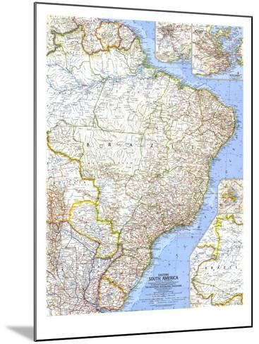 1962 Eastern South America Map-National Geographic Maps-Mounted Art Print