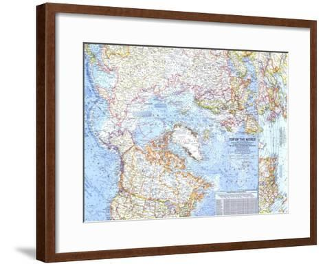 1965 top of the world map art print by national geographic maps 1965 top of the world map national geographic maps framed art print gumiabroncs Images