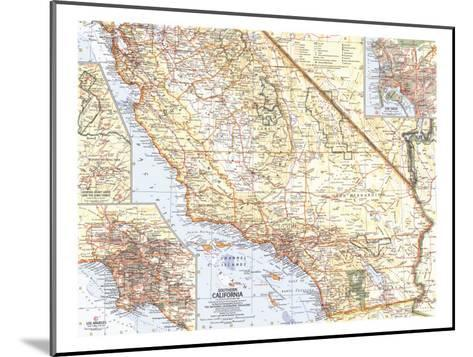 1966 Southern California Map-National Geographic Maps-Mounted Art Print