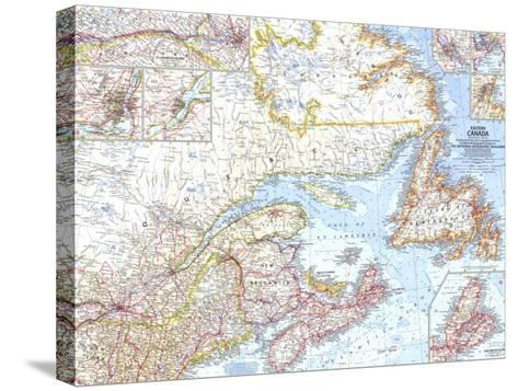 1967 Eastern Canada Map-National Geographic Maps-Stretched Canvas Print