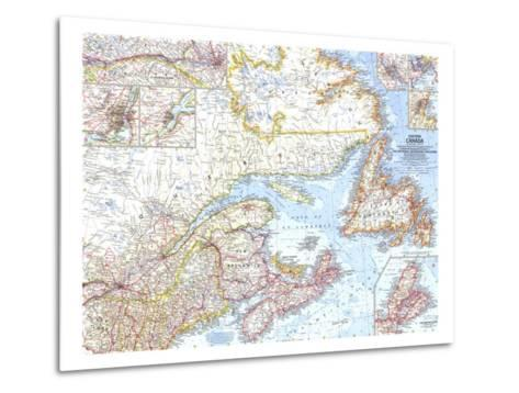 1967 Eastern Canada Map-National Geographic Maps-Metal Print