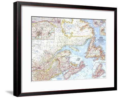 1967 Eastern Canada Map-National Geographic Maps-Framed Art Print
